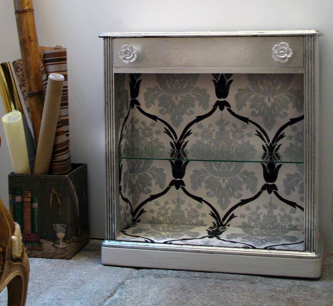 Forrar un mueble de tela taller y medio - Forrar armarios por fuera ...