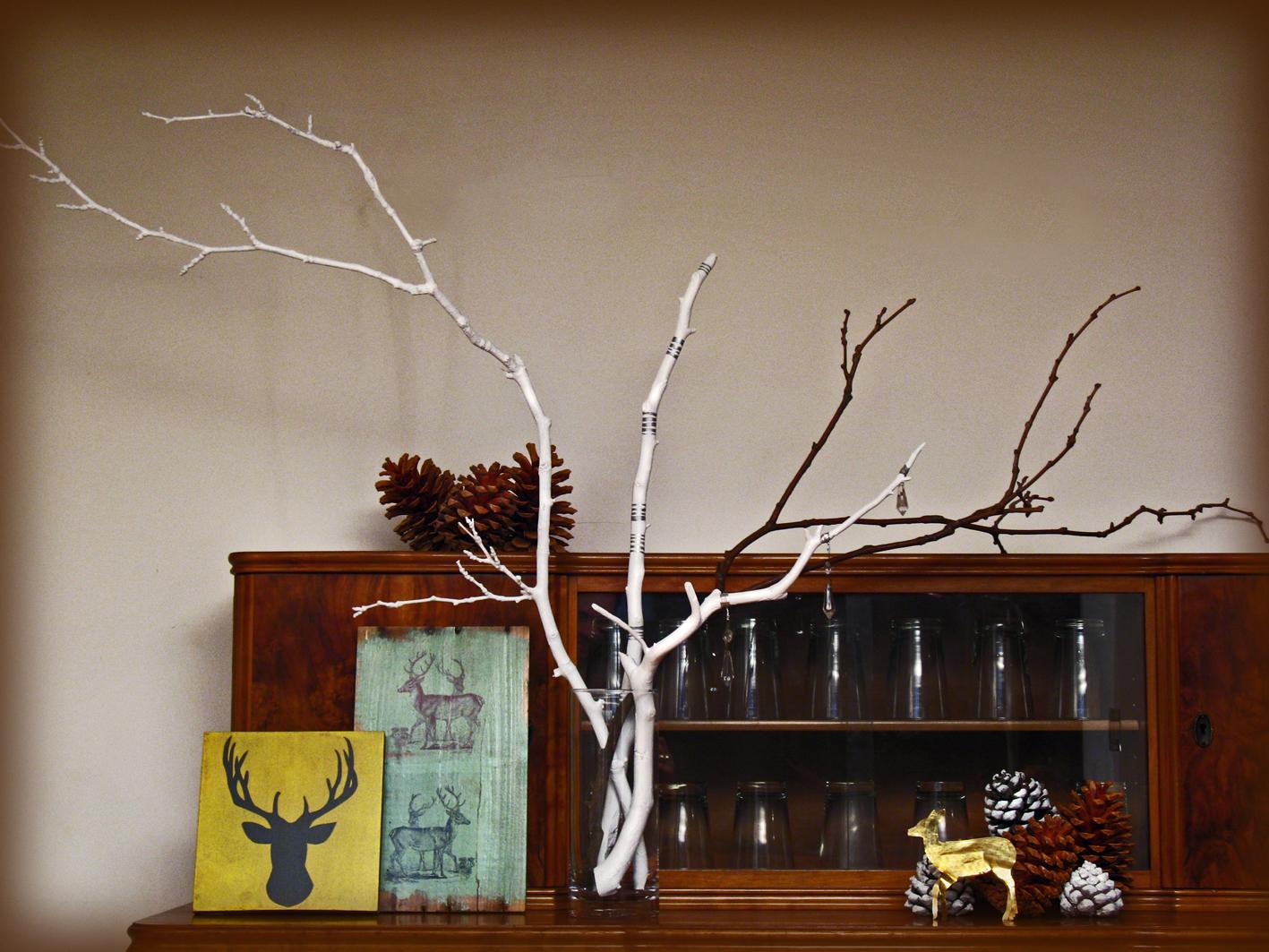 Ramas pintadas taller y medio for Cocinas con piedras decorativas