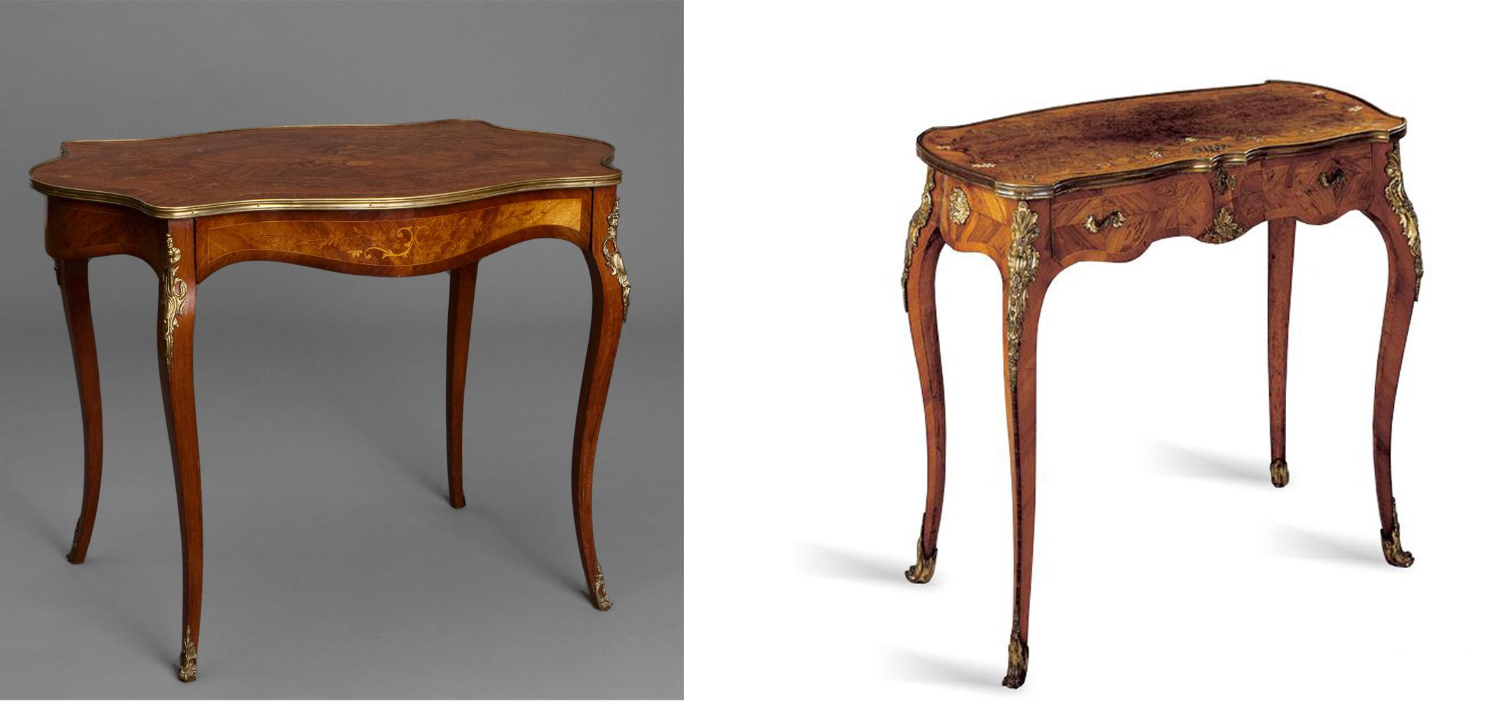El mueble franc s del siglo xviii taller y medio - Mesas auxiliares antiguas ...