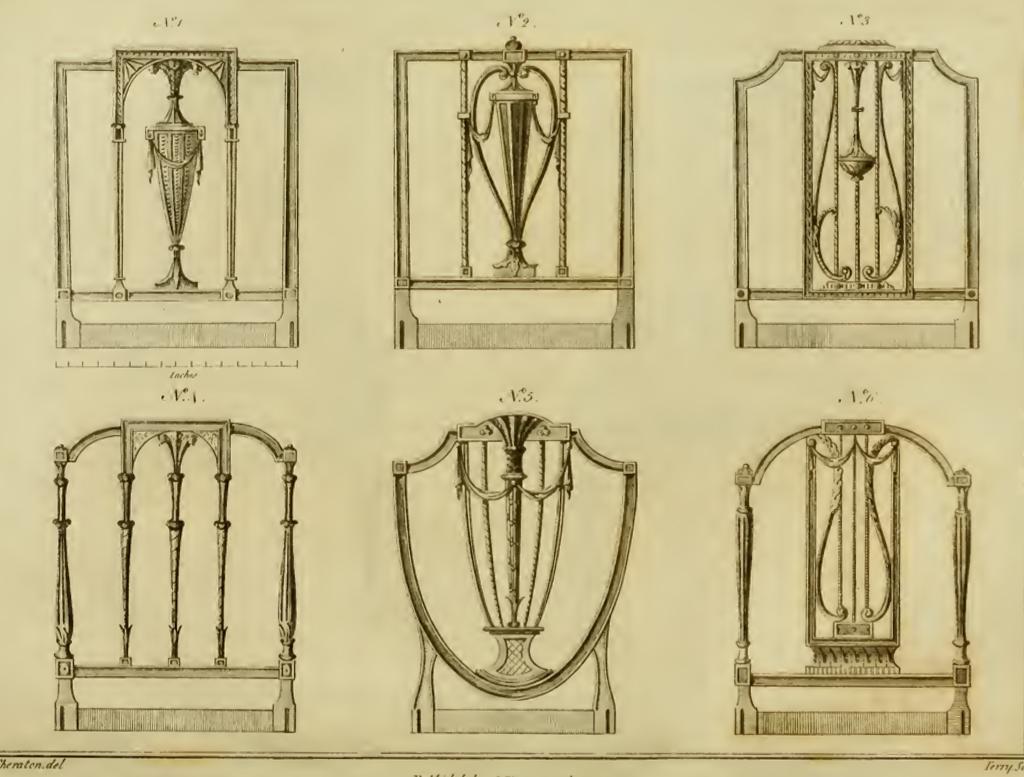 Sheraton taller y medio - Muebles estilo neoclasico ...